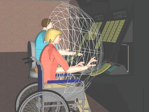 Jack computermodel in controlekamer