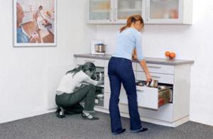 Keukenkasten met lades zijn makkelijker toegankelijk