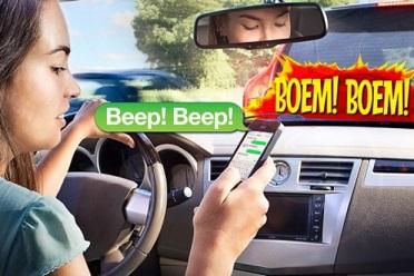 Smartphone achter het stuur