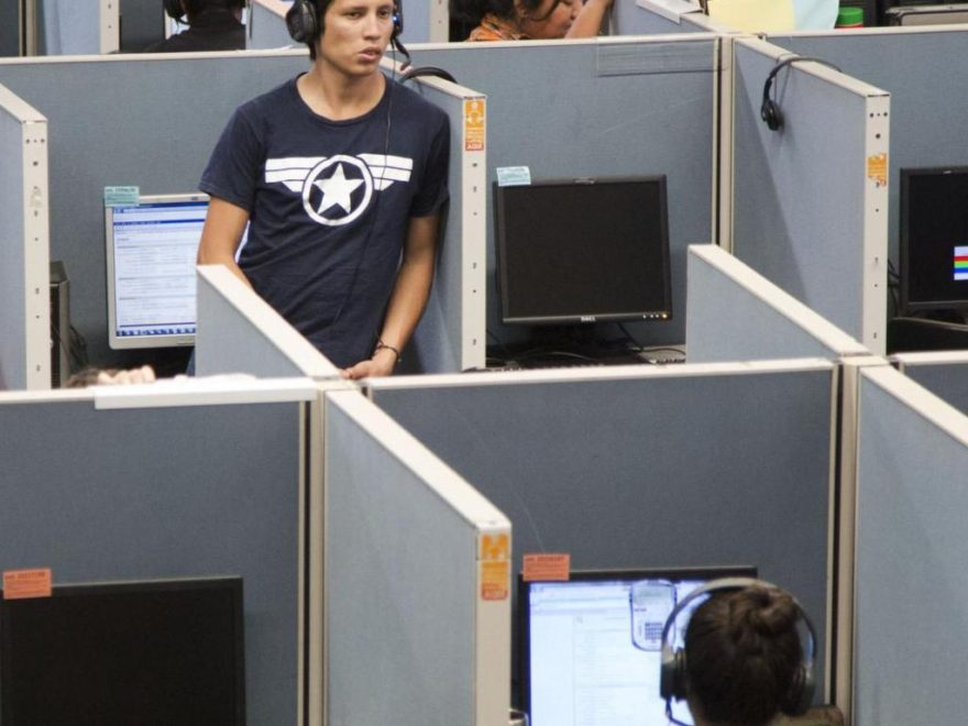 Staan in callcenter