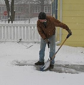 Sneeuwschep met tweede handvat