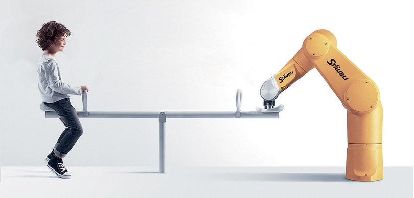 Figuur balans mens en machine