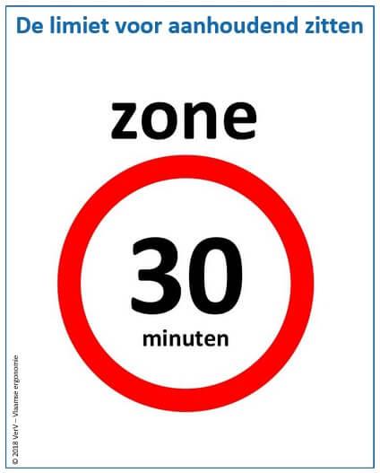 Maximum 30 minuten aanhoudend zitten