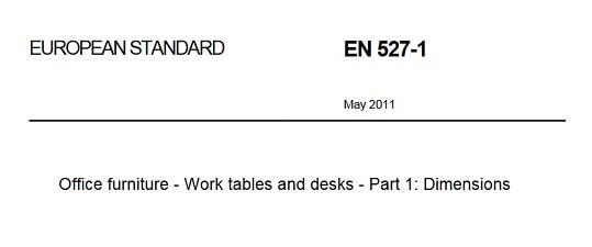 EN527 bureautafels