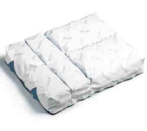 Vicair luchtkussen met luchtzakjes of pakketjes. De vier compartimenten kunnen afzonderlijk opgevuld worden.