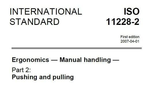 ISO 11228-2 trekken en duwen