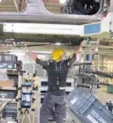 Toyota werken boven hoofdhoogte