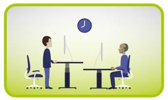 Zittend werken (campagne EU-OSHA)