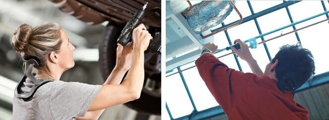 Exoskeletten of passieve ondersteuning van de nek.
