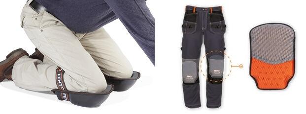 Knielappen of kniebeschermers