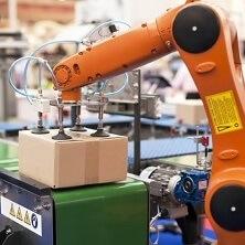 Robot die dozen kan tillen